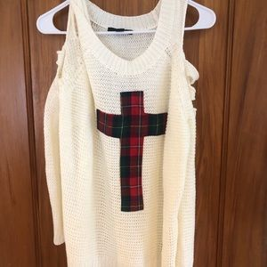 Cross sweater Cut out